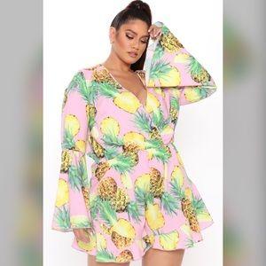 Fashions Nova Curve Fun And Fruity Romper Size 3X